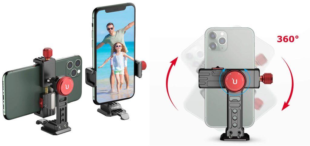 """Hier stelle ich euch den VIJIM Smartphone-Stativkopf mit besten Bewertungen und Rabatt bei Amazon vor. Die Handy-Halterung fürs Stativ kann mit 1/4""""- oder 3/8""""-Schraube genutzt werden und bietet Schutz für das Smartphonegehäuse."""