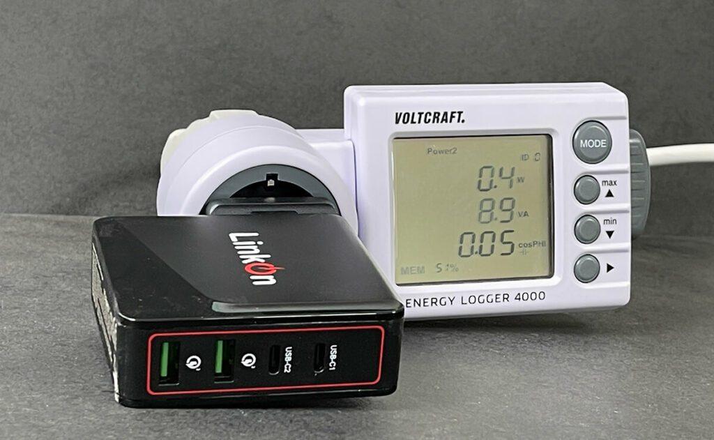 Der gemessene Standby-Verbrauch des LinkOn Ganius ist unter einem halben Watt und damit sehr niedrig (Fotos: Sir Apfelot).