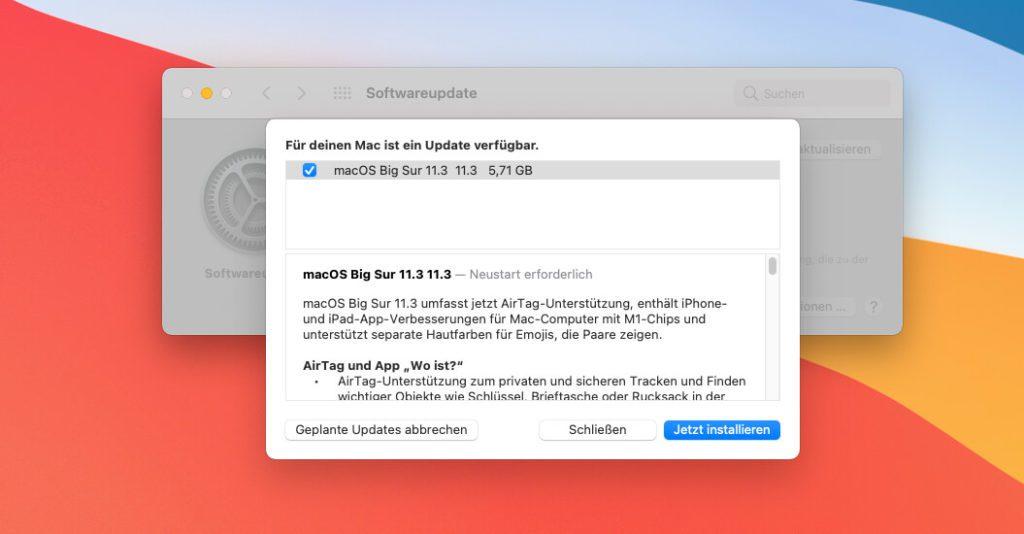 Apple informiert auch bei macOS 11.3 über die Neuerungen des Updates.