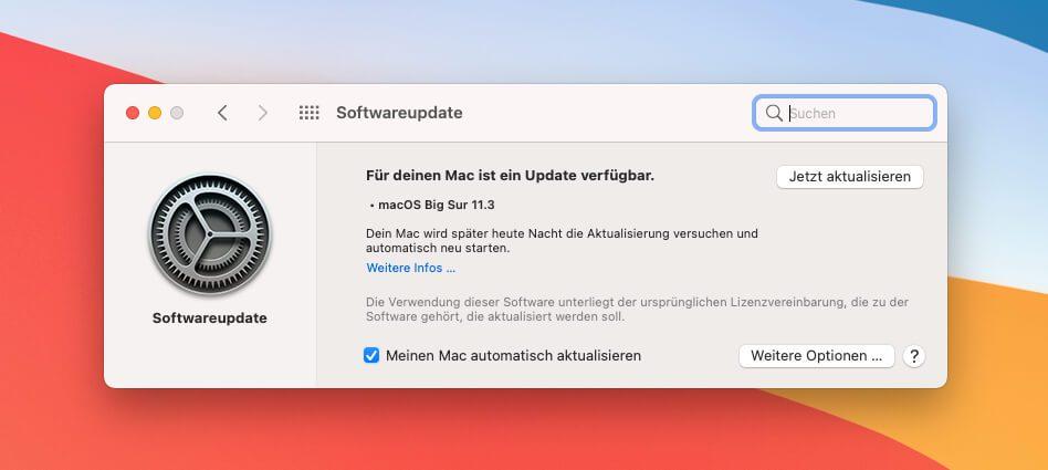 Das neue macOS 11.3 Update enthält auch Sicherheitsupdates, sodass es aus meiner Sicht eine wichtige Aktualisierung ist.