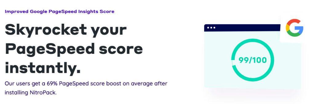 """Das NitroPack WordPress-Plugin sorgt für sehr gute Punktzahlen beim Google Pagespeed Test und optimiert die """"Core Web Vitals"""", welche Google bald zum Ranking heranzieht."""