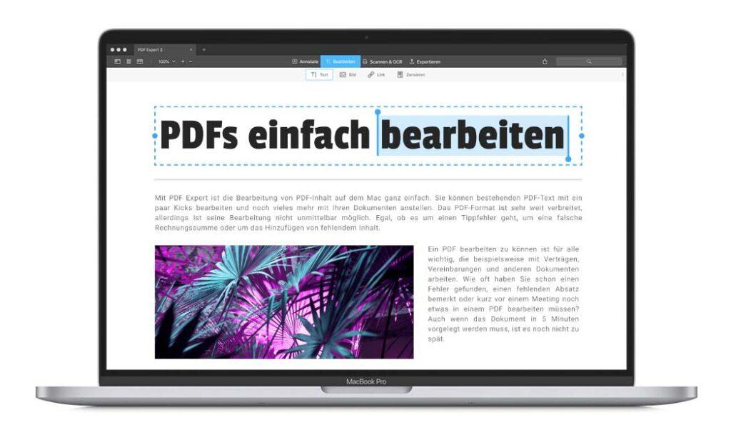 Die App PDF-Expert ist etwas für Leute, die gerne häufiger mal PDFs editieren möchten.