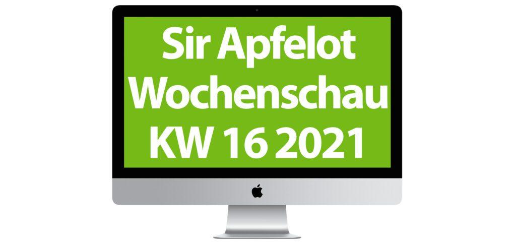 In der Sir Apfelot Wochenschau der Kalenderwoche 16 in 2021: Apple April-Event, Perseverance und Ingenuity, Corona-Warn-App 2.0, das neue iOS 14.5, Gerüchte zum MacBook Pro 2021, ein Nintendo Switch Drucker und mehr.