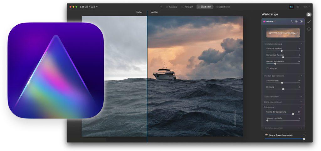 Ab heute gibt es das Luminar AI Update 3 für die KI-basierte Fotobearbeitung von Skylum. Wer die App bereits besitzt, kann es sich kostenlos laden und installieren.
