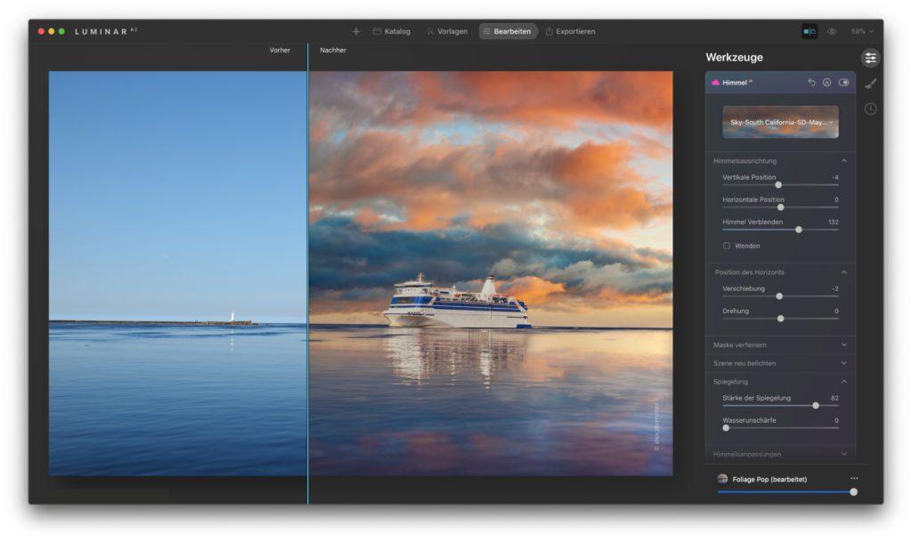 Vor allem für die Bearbeitung des Himmels in Landschaftsaufnahmen gibt es Verbesserungen und neue Features. Zudem werden jetzt Apple Mac Modelle mit M1-Chip sowie das HEIC-Format unter Windows unterstützt.