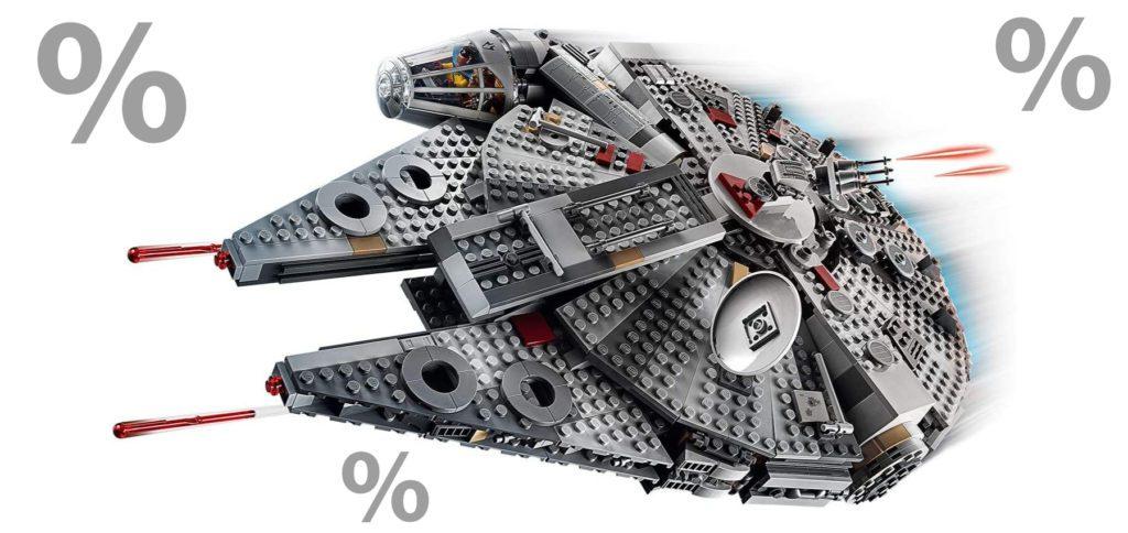 Zum Star Wars Tag 2021 bekommt ihr Lego-Sets bei Amazon günstiger – auch mit Prime-Lieferung. Zum heutigen 4. Mai 2021 den Millennium Falcon, Baby Yoda und Helm-Büsten günstiger kaufen.