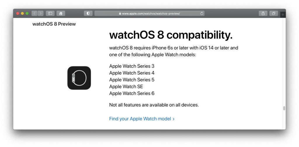 Infos aus der offiziellen watchOS 8 Preview von Apple (Link s. u.). Mit watchOS 8 sind die gleichen Watch Series' nutzbar wie mit watchOS 7. 2021