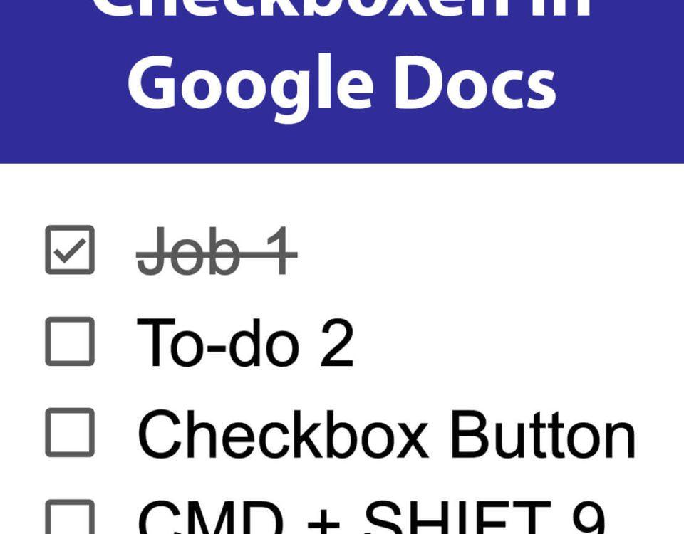 Google Docs Checkboxen