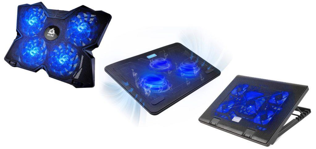 Laptop-Kühler zum schnelleren Abkühlen der Hardware von MacBook und Co. Bei Amazon bekommt ihr die Laptop-Ventilatoren mit Prime-Versand schnell geliefert, sodass der Sommer kein Problem mehr ist.