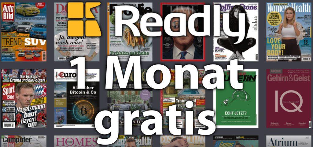 Mit dem Sir Apfelot Deal könnt ihr Readly 1 Monat kostenlos nutzen. Das jederzeit kündbare Abonnement für über 5.000 Magazine, Zeitungen und Zeitschriften bringt dank Download-Option die Möglichkeit mit, die Lieblingsmagazine auch offline zu lesen. Readly App gratis