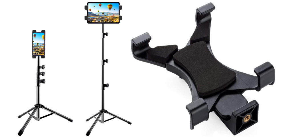iPad tripod: With a tablet tripod or tablet tripod head you can set up the Apple iPad, among other things. The iPad can then be used for photography, video recordings, video conferences, as an info screen and more.