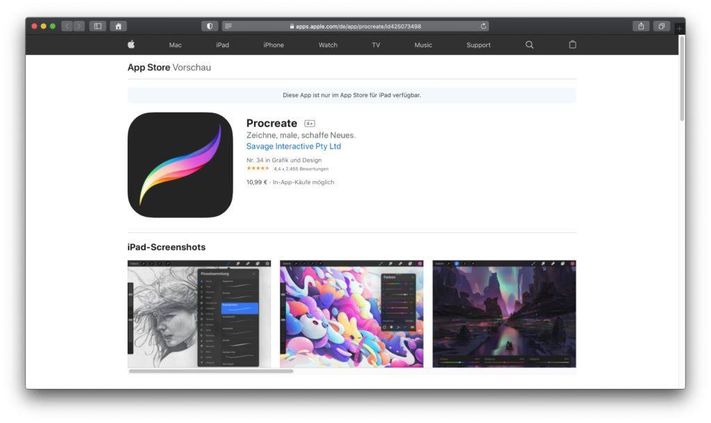 Procreate – Diese Software ist kein Geheimtipp, sondern die Lösung, die so ziemlich überall vorgeschlagen wird, wenn es ums Zeichnen und Malen am iPad geht.