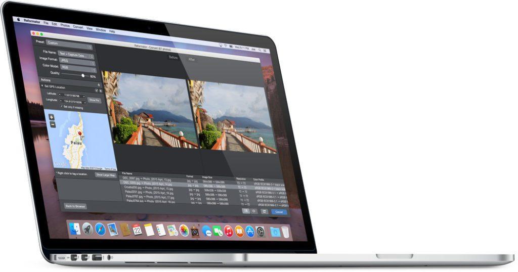 PhotoMill hilft euch unter macOS, mehrere Bilder und Fotos auf einmal in der Größe zu verändern, mit einem Wasserzeichen zu versehen oder umzubenennen. Zudem könnt ihr damit die Metadaten verändern.
