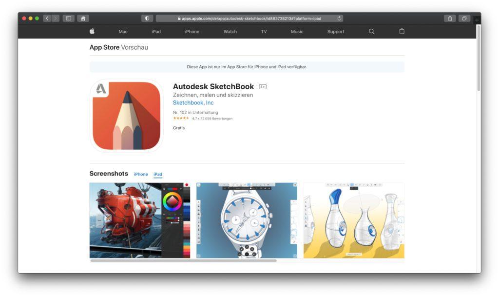 AutoDesk SketchBook – Dieses Programm ist nicht nur umfangreich für alle möglichen Aufgaben ausgestattet, sondern in der Vollversion komplett kostenlos. Für einige immer noch ein Geheimtipp.