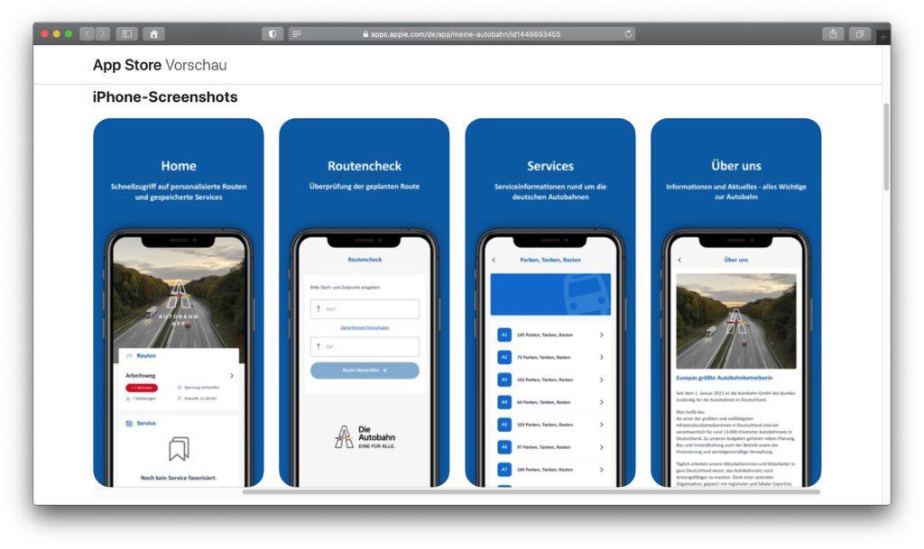 Die offizielle Autobahn App der Autobahn GmbH des Bundes und der prototype berlin GmbH bringt Verkehrscheck, Routen-Informationen, Raststätten, Tankstellen, E-Ladesäulen, Webcams und mehr auf iPhone und Android-Smartphones.