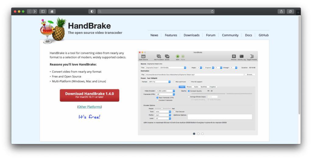Der HandBrake 1.4.0 Download steht ab macOS 10.11 sowie für Windows und Linux bereit. Die kostenlose App hilft dabei, DVD-Filme auf die Festplatte zu kopieren und Videos zu konvertieren.