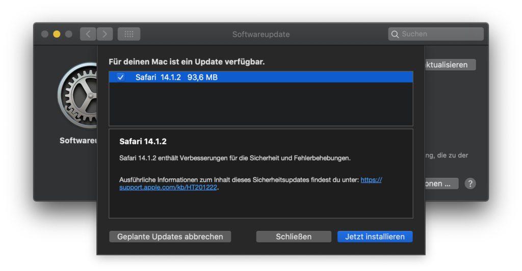 Umfangreiche Details gibt es noch nicht. Wahrscheinlich dient das der Sicherheit der Nutzer/innen von macOS und Safari am Apple Mac.