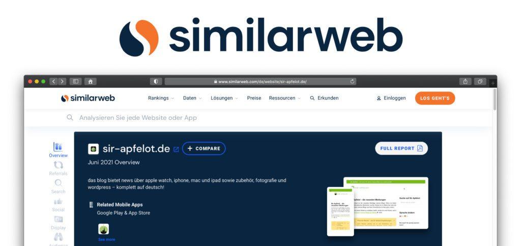 SimilarWeb ist eine Suchmaschine für Website- und App-Daten. Traffic, Interaktionen, Verlinkungen, ähnliche Seiten und weitere Informationen könnt ihr damit auslesen– sogar kostenlos und ohne Anmeldung.