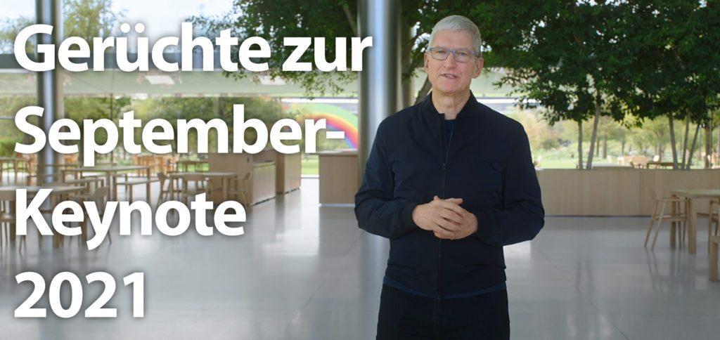 Für die Apple September-Keynote 2021 können viele neue Geräte erwartet werden: iPhone 13, iPad mini 6, AirPods 3, Apple Watch 7, MacBook Pro, MacBook Air, iMac, Zubehör fürs Smart Home, und mehr. Hier bekommt ihr einen Einblick!