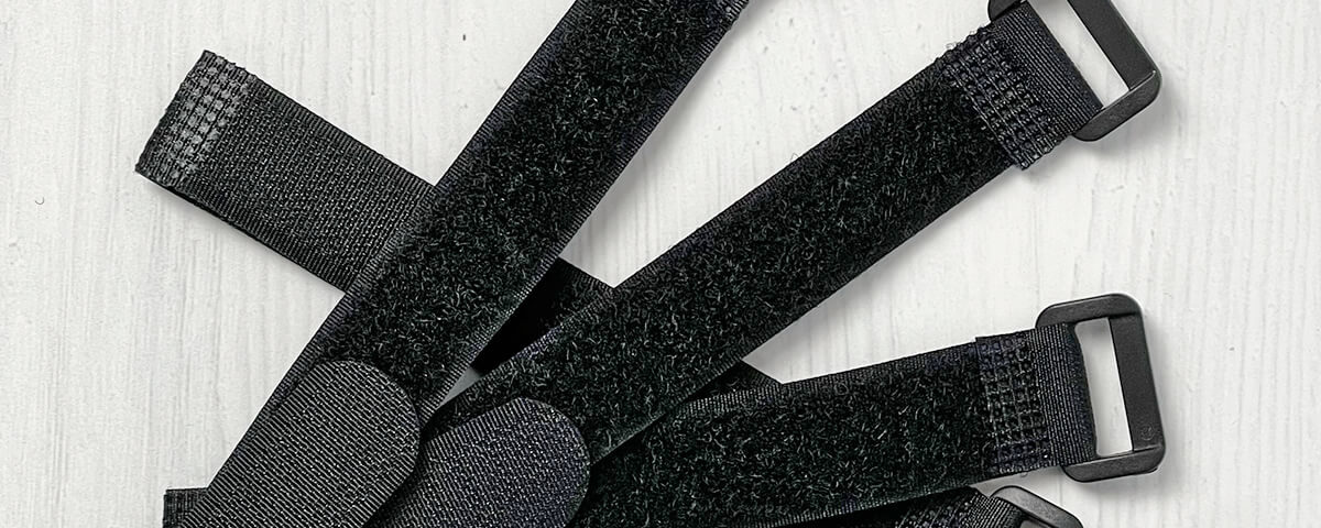 Velcro cable ties with eyelets