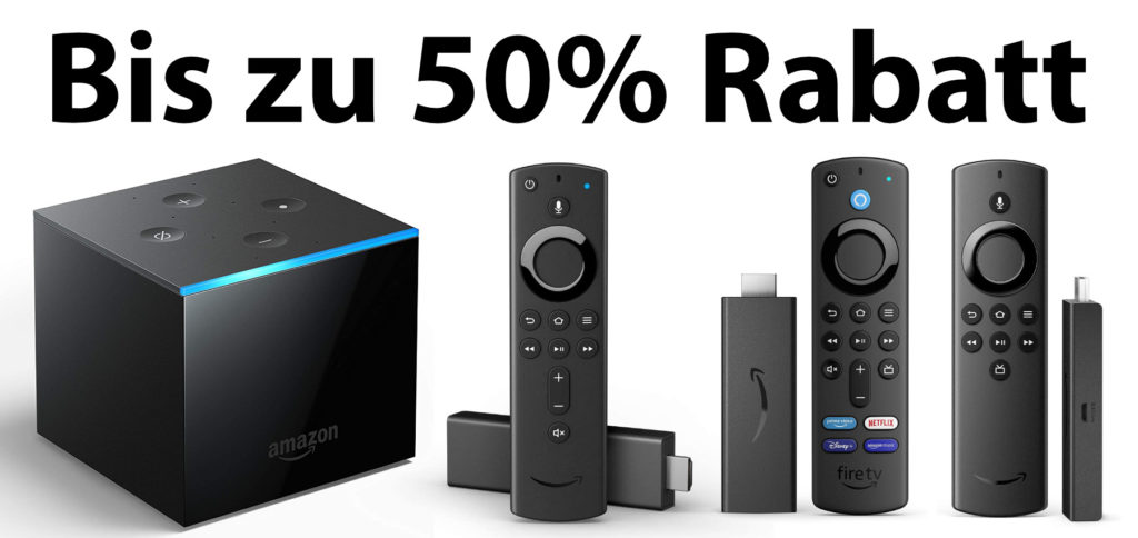 You can currently get three Amazon Fire TV Sticks cheaper. The Fire TV Cube is also offered at a discount. In the following you will find the details of the offer and the individual devices.