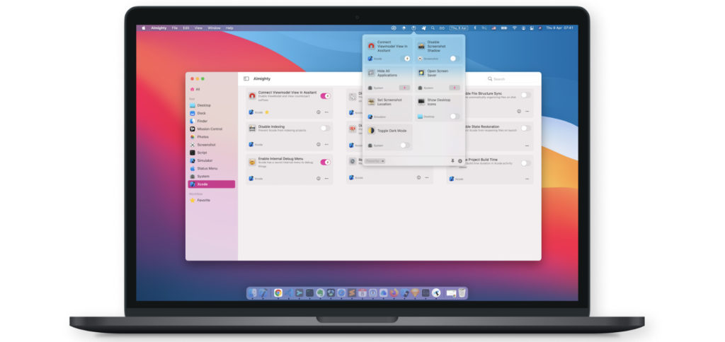 With the Almighty app for the Mac, you can make various optimizations to the system, design and individual apps. With the Setapp subscription you get this and over 220 other full versions at a low price.