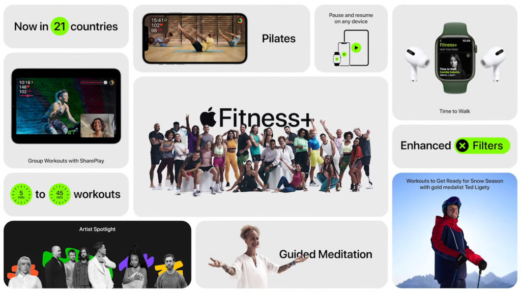 The steadily growing range of Apple Fitness +, which is currently being expanded to include Pilates, guided meditation, ski and snowboard training, as well as audio offers for walking, is coming to Germany, Austria and Switzerland in addition to other countries.