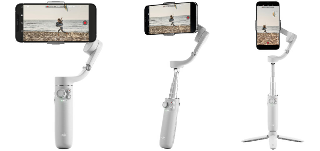 The DJI OM 5 smartphone gimbal is lighter than its predecessor, but offers more flexible use thanks to the selfie stick function and new app features. In addition, this 3-axis stabilizer is lighter. TikTok tripod, YouTube Vlog Gimbal