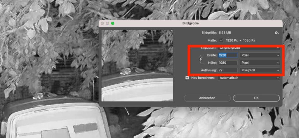Die Auflösung der Fotos (hier eine Nachtaufnahme) beträgt 1920 x 1080 Pixel – ebenso bei den Videoaufnahmen.