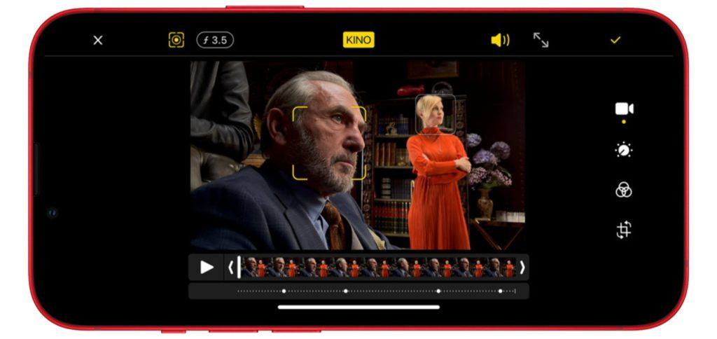 Der Cinematic Mode in der Kamera-App sorgt bei den iPhone 13 Modellen dafür, dass der Fokus zwischen Vordergrund und Hintergrund gewechselt werden kann – für Kino-gleiche Effekte.