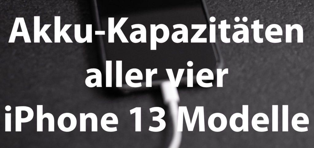 Hier findet ihr die Apple iPhone 13 Akku-Kapazität in mAh und Wh – und zwar für alle Modelle vom mini bis zum Pro Max. Außerdem gibt's einen übersichtlichen Vergleich mit den Akkus aus der iPhone 12 Reihe.