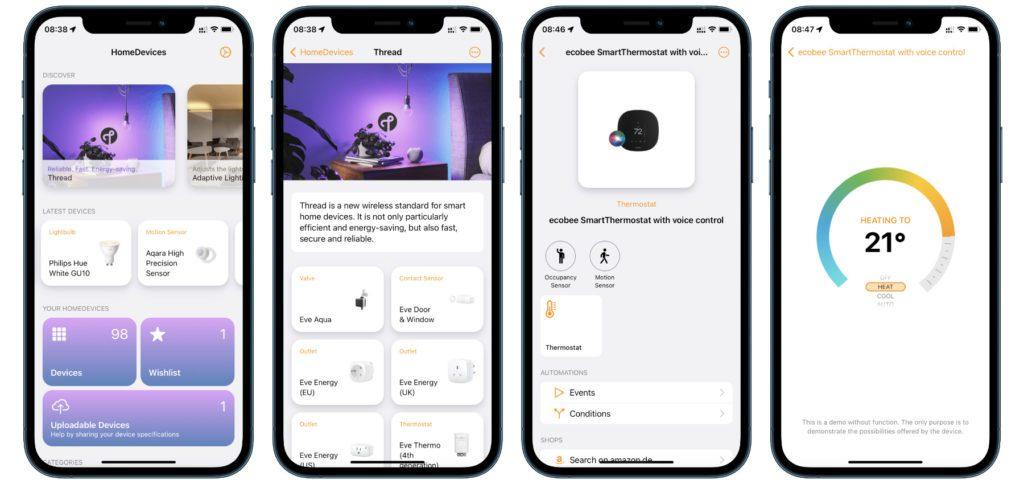 Die HomeDevices App von Yannic Fries ist ein Lexikon bzw. Katalog für HomeKit-Geräte. Ihr könnt darin kostenlos eine Datenbank durchstöbern, eine Wunschliste anlegen und eigene Geräte einpflegen.