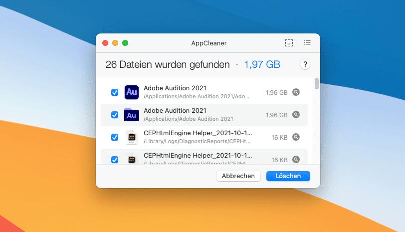 Mit dem Programm AppCleaner lassen sich Apps inklusive der verbundenen Systemreste einfach entfernen.